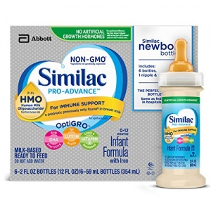 ihocon: Similac Pro-Advance Infant Formula with 2'-FL HMO for Immune Support, Ready to Feed Newborn Bottles, 2 fl oz, (48 Count)  新生兒嬰兒即食牛奶
