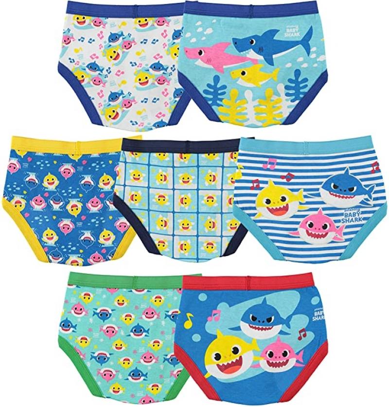 ihocon: Baby Shark Boys' Toddler Underwear Multipacks 幼兒內褲7件