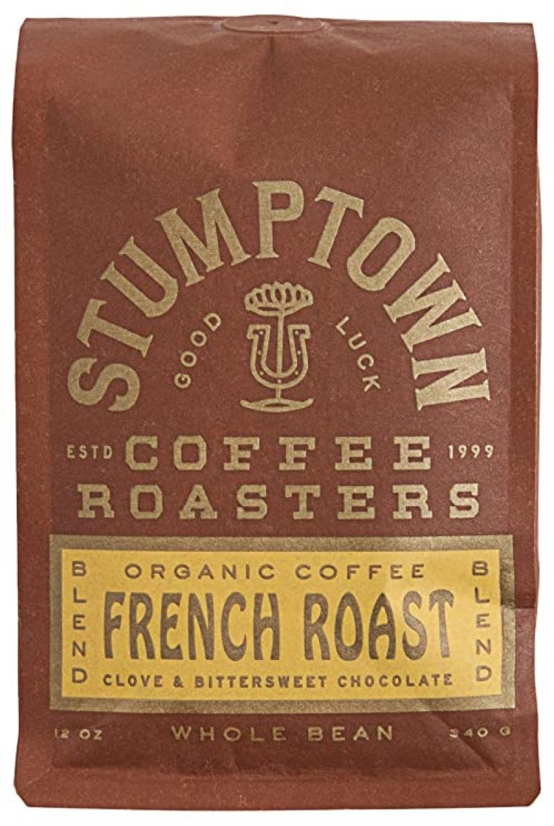 ihocon: Stumptown Coffee Roasters French Roast Whole Bean Organic Coffee, 12 oz    有機咖啡豆