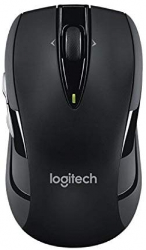ihocon: Logitech M545 Wireless Optical Mouse with Side-to-Side Scroll Wheel and 2-Thumb Buttons (Black)無線滑鼠