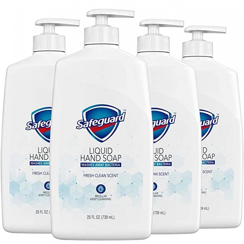 ihocon: Safeguard Liquid Hand Soap, 25 Oz (Pack of 4) 洗手液皂
