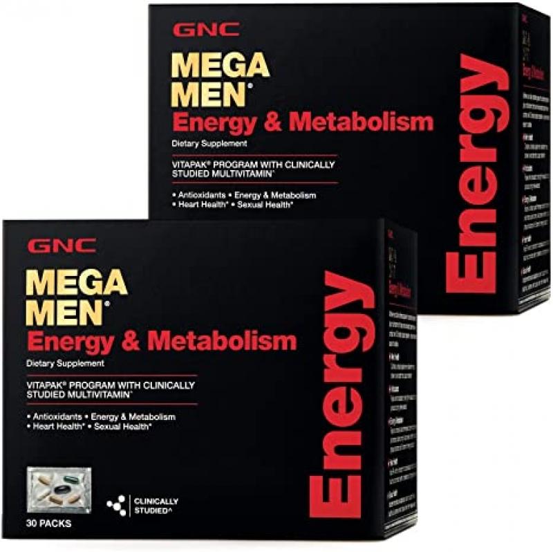 GNC Mega Men Energy & Metabolism 綜合維他命30包2盒 $62.99(原價$89.98)