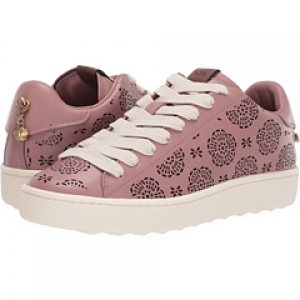 ihocon: COACH C101 Low Top Sneaker with Cut Out Tea Rose - Leathe 女鞋