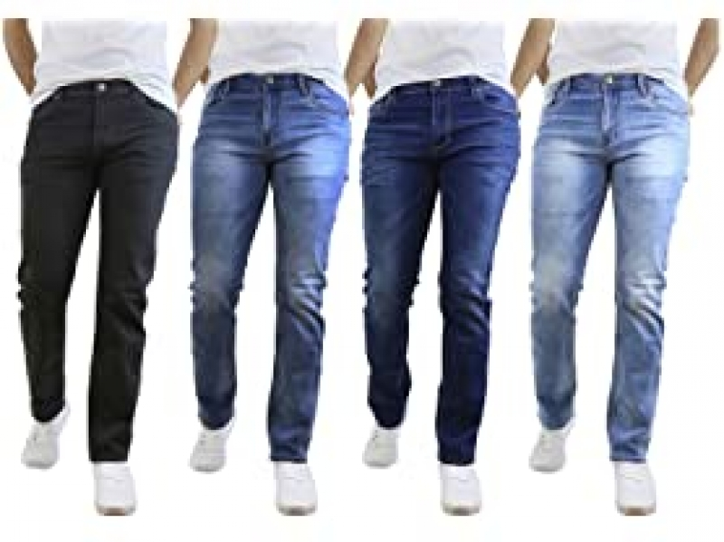 ihocon: 2-Pack Men's Stretch Denim Jeans 男士彈性牛仔褲 2條