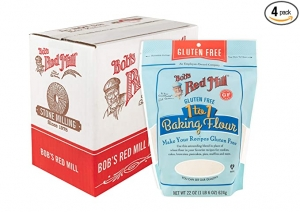 ihocon: Bob's Red Mill Bob's Red Mill Gluten Free 1-to-1 Baking Flour, 22 Ounce, Pack of 4 無麩質烘焙麵粉