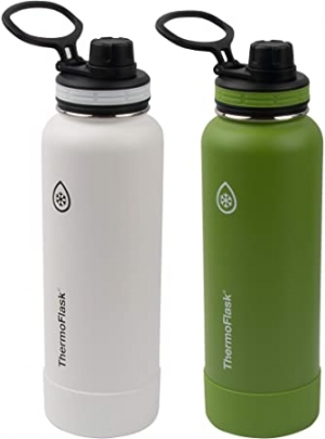 ihocon: Thermoflask Double Wall Vacuum Insulated Stainless Steel Water Bottle 2-Pack 不銹鋼保溫水瓶, 40oz