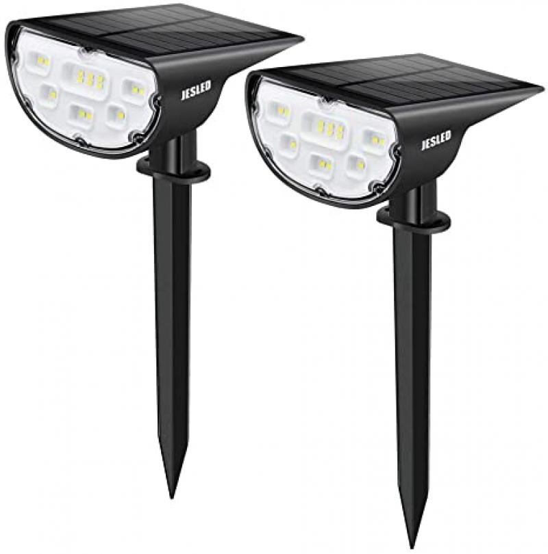 ihocon: JESLED Solar Landscape Spot Lights, 2-Pack 太陽能LED庭園燈