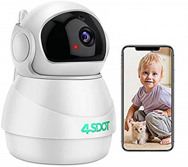 ihocon: 4SDOT 1080p 3D Panorama View Baby Monitor Camera with 2 Way Audio, Night Vision, Motion Detection,Cloud Storage 嬰兒監視器