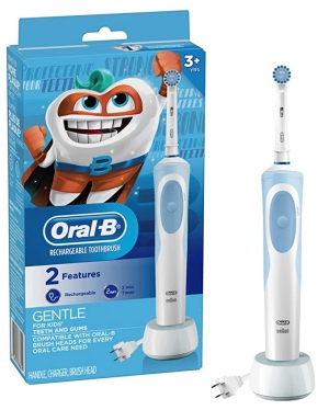ihocon: Oral-B Kids Electric Toothbrush With Sensitive Brush Head and Timer, for Kids 3+ 兒童電動牙刷