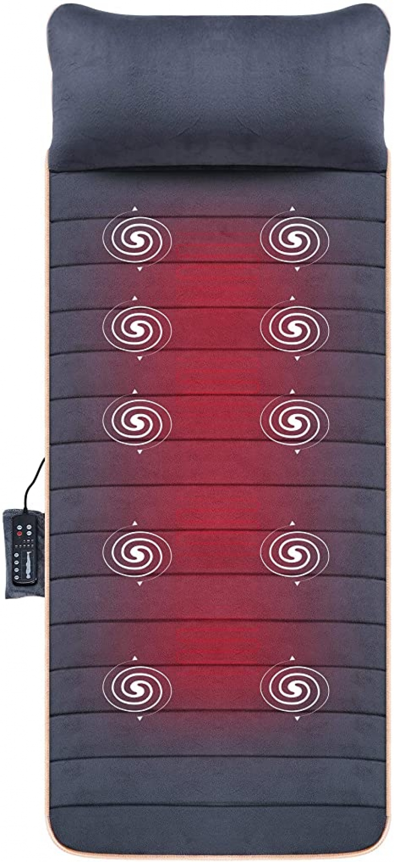 ihocon: Massage Mat with 10 Vibrating Motors and 4 Therapy Heating pad Full Body Massager Cushion 全身加熱按摩墊