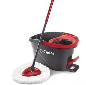 ihocon: O-Cedar EasyWring Microfiber Spin Mop, Bucket Floor Cleaning System 旋轉拖把