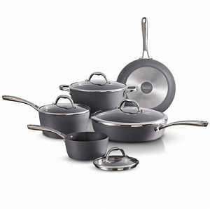 ihocon: [義大利製] Tramontina Gourmet Induction Aluminum Nonstick Made in Italy, Slate Gray 9-Piece Cookware Set不粘鍋組(可用於電磁爐)
