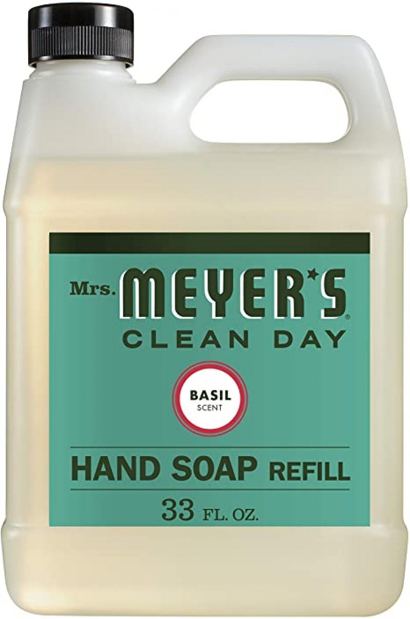 ihocon: MRS. MEYER'S Hand Soap Refill Basil Scent, 33 Oz 洗手液皂
