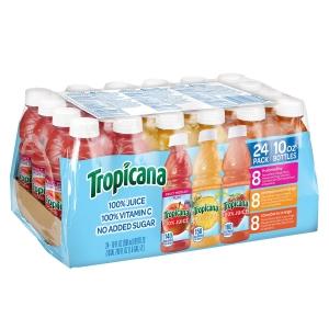 Tropicana 100% 純果汁 10oz 24瓶 $13.98