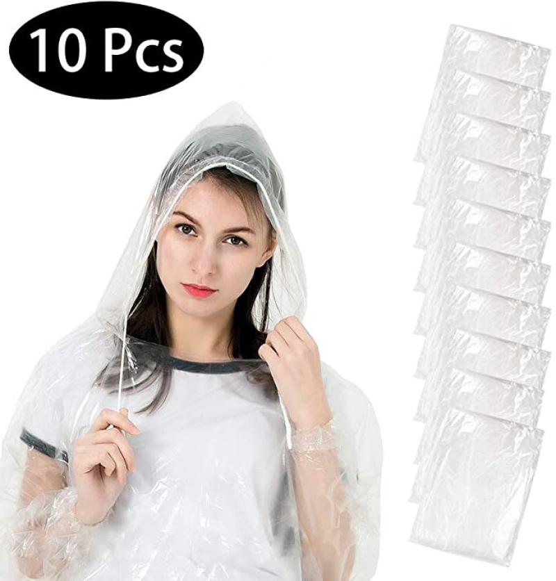 ihocon: EXTSUD Rain Poncho, 10 Pack 一次性雨衣