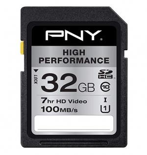PNY 32GB High Performance Class 10 SD記憶卡 $2(原價$8.99)