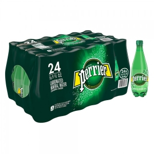 ihocon: Perrier Carbonated Mineral Water, 16.9 Fl Oz (24 Pack) Plastic Bottles 氣泡礦泉水