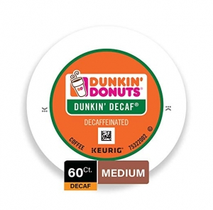 ihocon: Dunkin' Donuts Medium Roast Decaf Coffee, 60 K Cups for Keurig Coffee Makers 低咖啡因咖啡膠囊