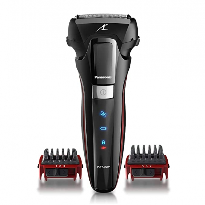ihocon: Panasonic Hybrid Wet Dry Shaver, Trimmer & Detailer with Two Adjustable Trim Attachments 男士乾濕兩用刮鬍/修容刀