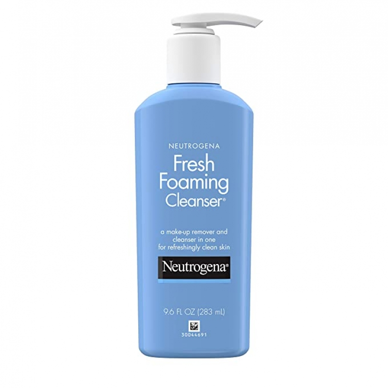 ihocon: Neutrogena Fresh Foaming Facial Cleanser & Makeup Remover, 9.6 fl. oz 露得清泡沫洗面/卸妝乳