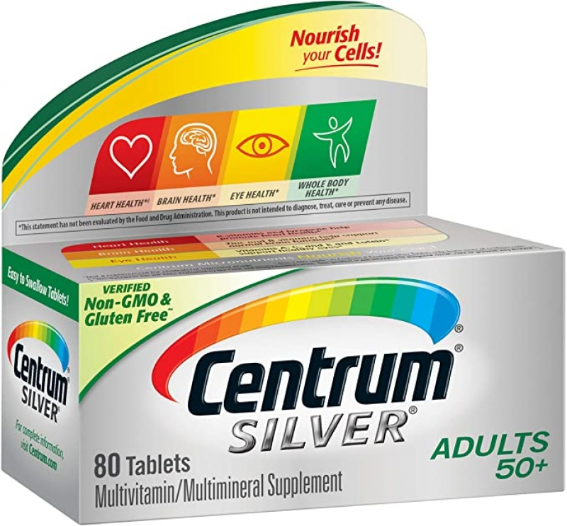 ihocon: Centrum Silver Multivitamin for Adults 50 Plus, 80 Count銀寶善存綜合維他命