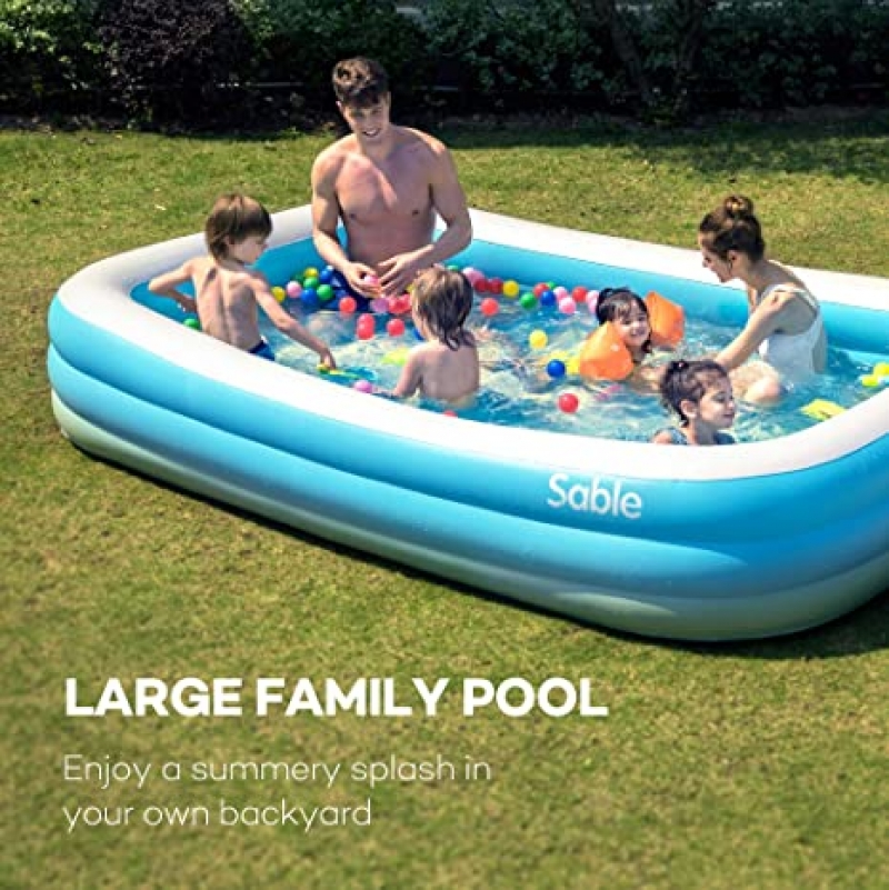 ihocon: Sable Inflatable Pool, 118 X 72 X 22 充氣游泳池