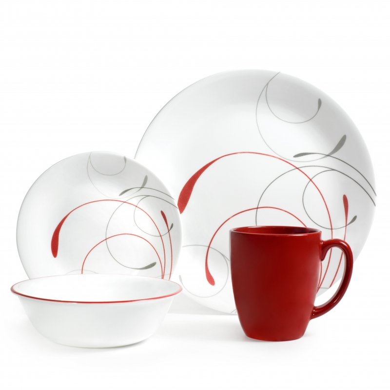 ihocon: Corelle Livingware Splendor 16-Piece Dinnerware Set 餐盤組