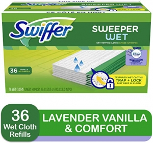 ihocon: Swiffer Sweeper Wet Mopping Cloth Multi Surface Refills, Febreze Lavender Vanilla & Comfort Scent, 36 count  濕拖地巾