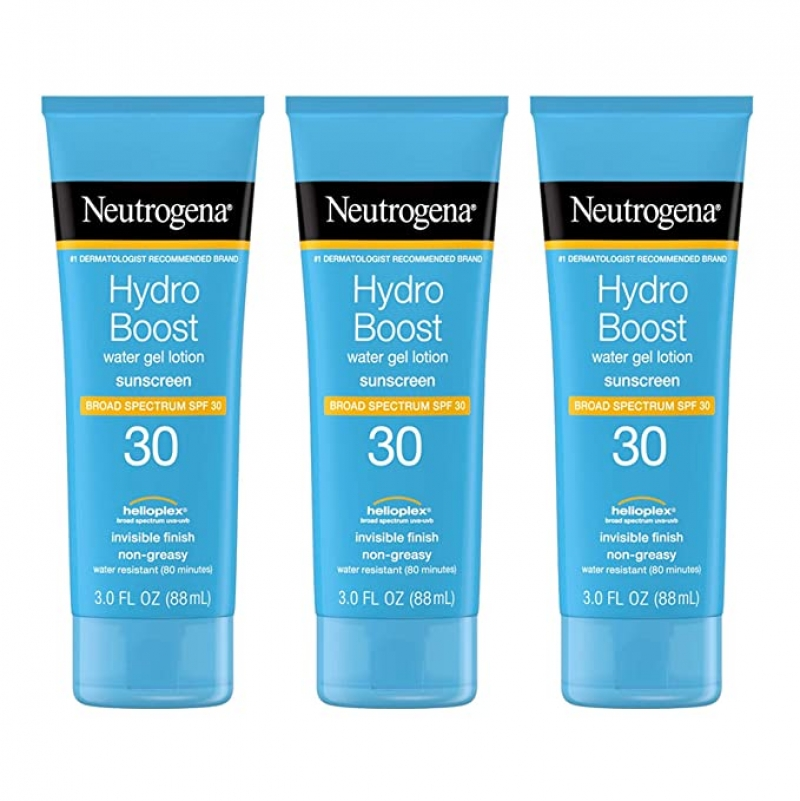 ihocon: Neutrogena Hydro Boost Water Gel Non-Greasy Moisturizing Sunscreen Lotion with Broad Spectrum SPF 30,  3 fl. Oz (Pack of 3) 露得清無油保濕防曬乳