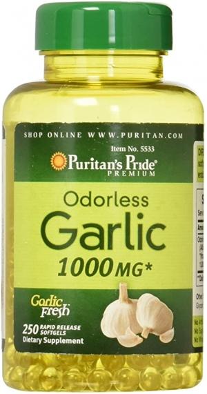 ihocon: Puritan's Pride Odorless Garlic 1000 Mg Rapid Release Softgels, 250Count 大蒜精