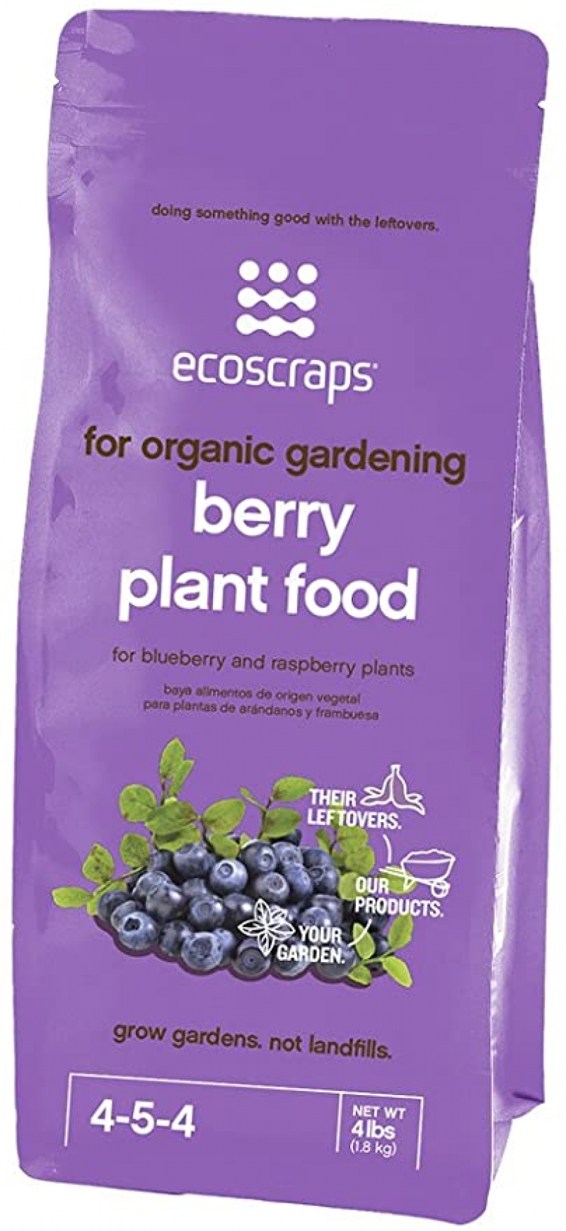 ihocon: EcoScraps for Organic Gardening Berry Plant Food, 4 lbs 藍莓等漿果植物肥料
