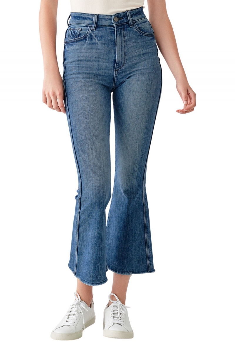 ihocon: DL1961 Rachel Cropped High Rise Jeans 1961 女士高腰九分牛仔褲