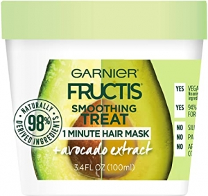 ihocon: Garnier Fructis Smoothing Treat 1 Minute Hair Mask with Avocado Extract, 3.4 Fl Oz (Pack of 1) 卡尼爾酪梨髮膜