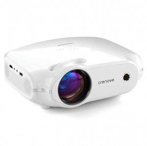 "ihocon: Crenova Mini Home Movie Projector with 200"" Display, 50000 Hrs LED Lamp, Work with Phone, PC, Mac, TV Stick, HDMI迷你家用投影機"