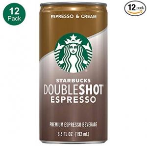 ihocon: Starbucks Doubleshot, Espresso + Cream, 6.5 Fluid Ounce, Pack of 12