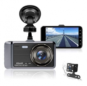 ihocon: Abask Dash Camera with Front and Rear Dual Camera. Night Vision, G-Sensor雙鏡頭行車記錄器
