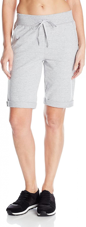 ihocon: Hanes Women's French Terry Bermuda Short 女士短褲