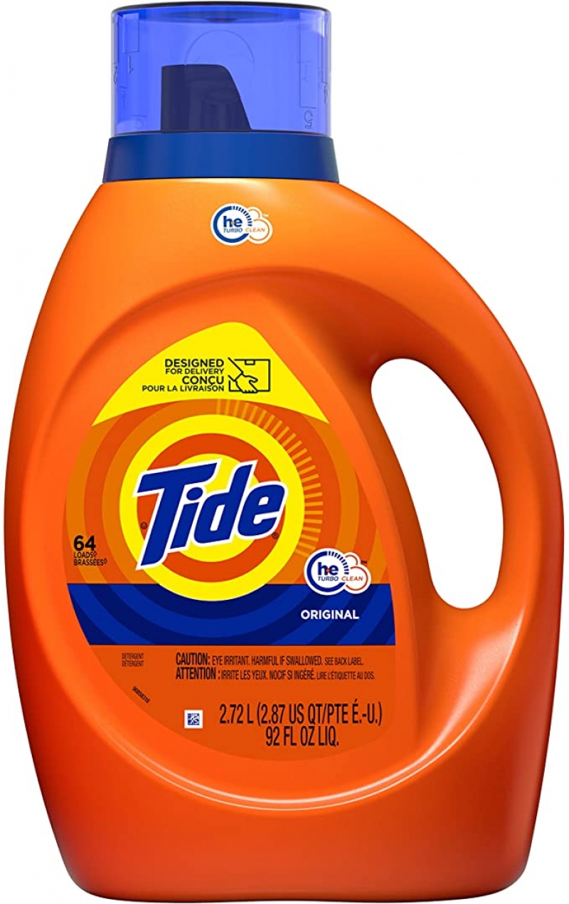 ihocon: Tide Laundry Detergent Liquid, Original Scent, HE Turbo Clean, 64 Loads 洗衣精