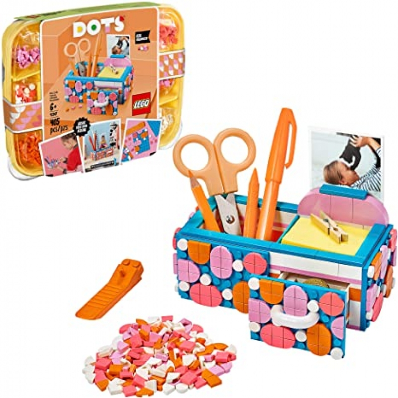 ihocon: LEGO DOTS Desk Organizer 41907 DIY Craft Decorations Kit 樂高文具收納盒