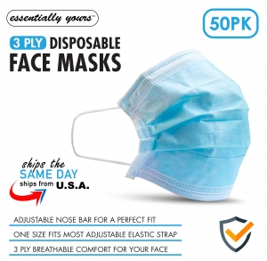 ihocon: Essentially Yours 50 Pcs 3 Ply Ear Loop Disposable Face Masks 3層一次性口罩