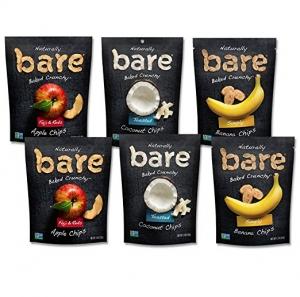 Bare Baked Crunchy Apple, Banana及Coconut Chips 6包 $9.52免運(原價$15.28)