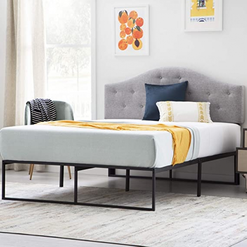 ihocon: LINENSPA Contemporary Platform Bed Frame, Queen 床架