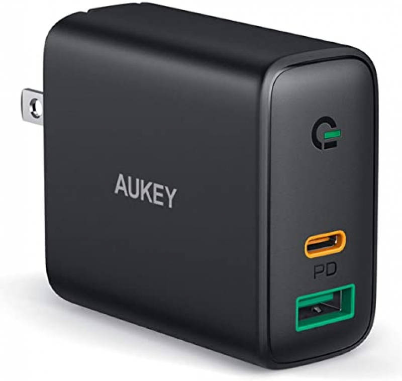 ihocon: AUKEY USB C Wall Fast Charger, Dual Port 快速充電器