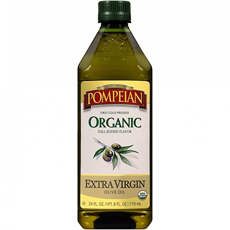 ihocon: Pompeian USDA Organic Extra Virgin Olive Oil, First Cold Pressed, 24 FL. OZ.有機冷壓初榨橄欖油