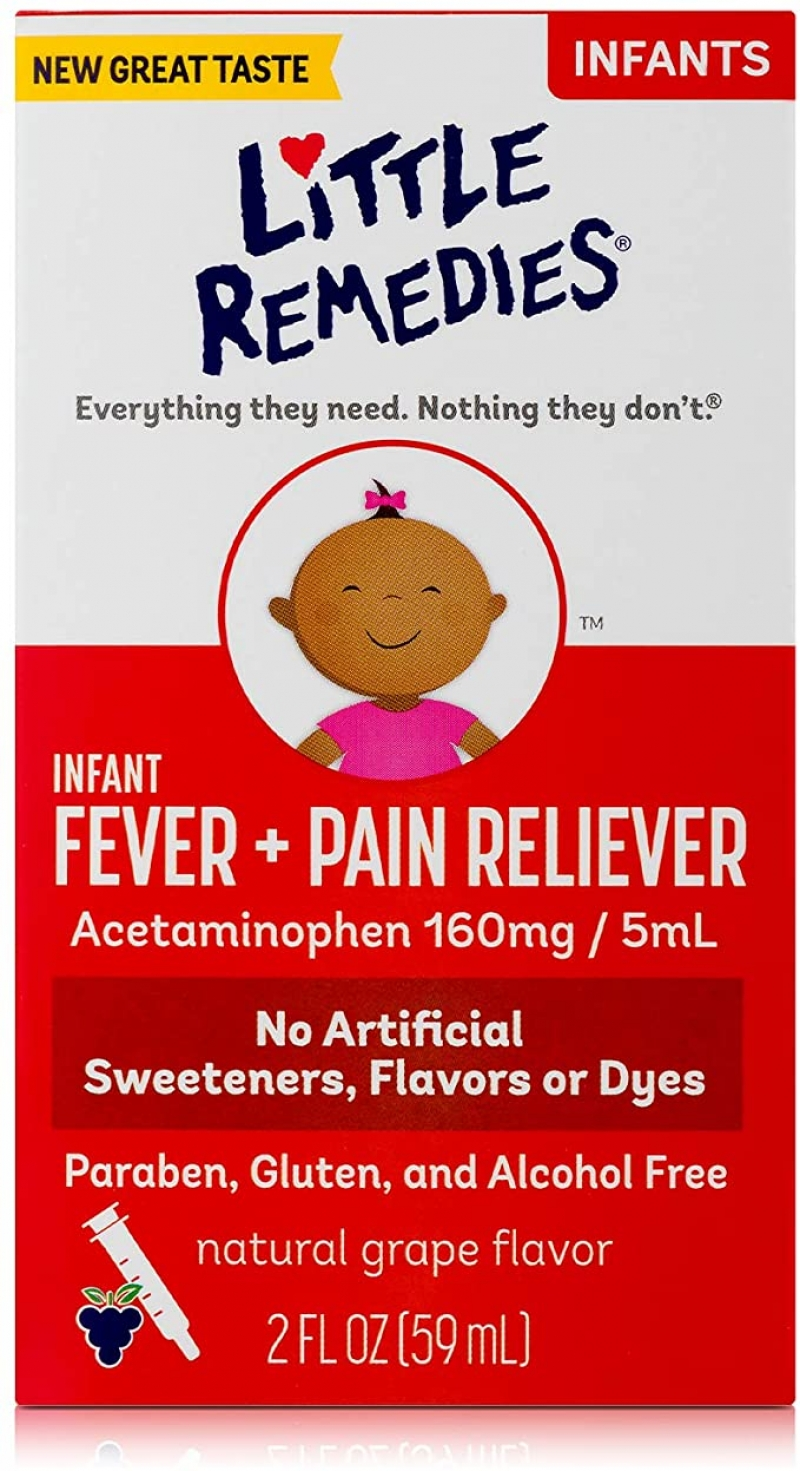 ihocon: Little Remedies Infant Fever & Pain Reliever with Acetaminophen | Grape |  2 FL OZ 嬰兒退燒/止痛糖漿