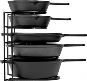 ihocon: cuisinel Heavy Duty Pan Organizer, 5 Tier Rack五層鍋架(可放鑄鐵鍋)