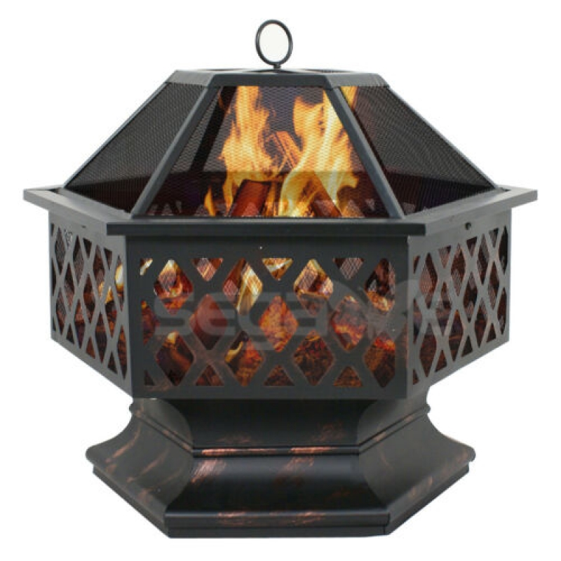 ihocon: Segawe Hex Shaped Patio Fire Pit 室外烤火爐