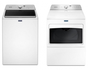ihocon: Maytag 4.7 cu. ft. High-Efficiency White Top Load Washing Machine with PowerWash Cycle 洗衣機