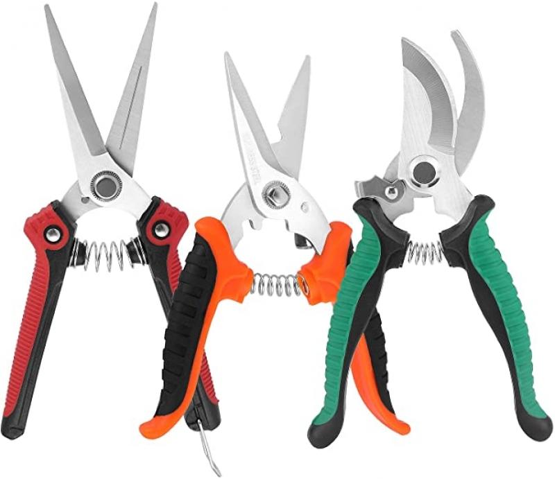 ihocon: KeShi Pruning Shears Garden Cutter Clippers, 3 PCS 園藝修枝剪