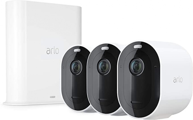 ihocon: Arlo Pro 3 2K Wire-Free Home Security 3-Pack Camera System With Color Night Vision 2-Way Audio 居家安全監視鏡頭